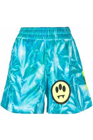 BARROW Logo tie-dye shorts
