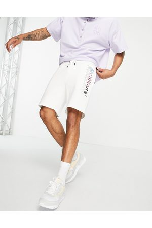 The Arcminute Arcminute co-ord jersey shorts in ecru-Neutral