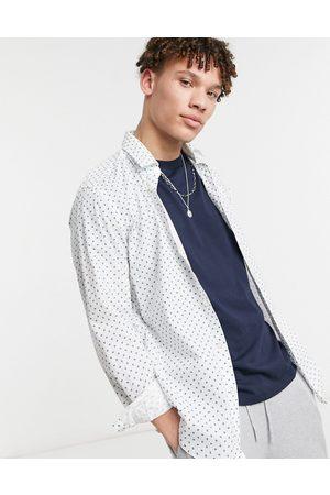 HUGO BOSS Business Lukas long sleeve shirt-Blue