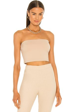 Susana Monaco Strapless Crop Top in - Nude. Size L (also in XS, S, M).