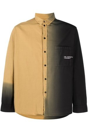 HENRIK VIBSKOV Two-tone button-up shirt