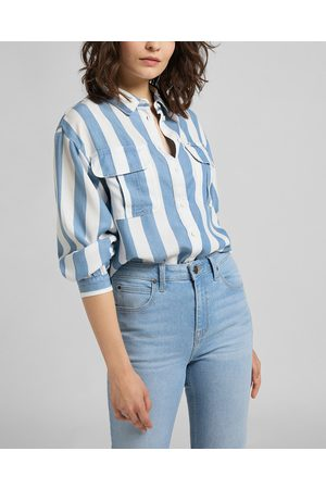 Lee Box Pleat Shirt Blue