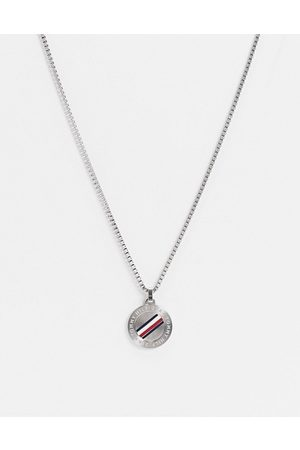 Tommy Hilfiger Neckchain in silver with circular dog tag