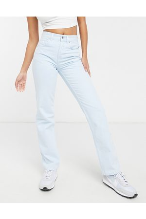 ASOS Mid rise '90s' straight leg jeans in powder blue