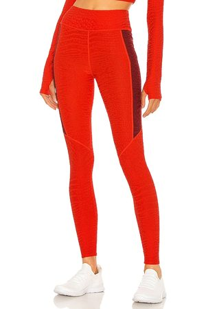 TWENTY MONTREAL Crocodile 3D High Waist Legging in - Red. Size L (also in XS, S, M).