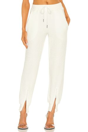 TWENTY MONTREAL Caiman Crocodile Blister Knit Pants in - White. Size L (also in XS, S, M).