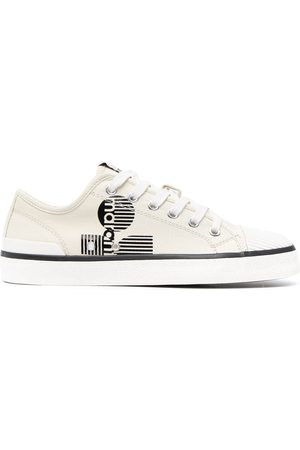 Isabel Marant Senhora Sapatos desportivos - Logo-print lace-up trainers