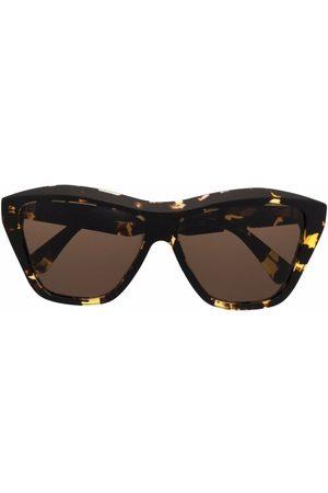 Bottega Veneta Tortoiseshell-effect geometric-frame sunglasses