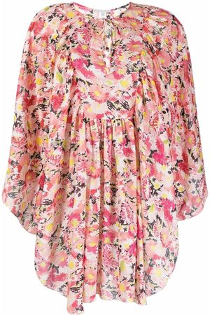 Stella McCartney Senhora Tops de Cavas - Floral-print organic-cotton kaftan