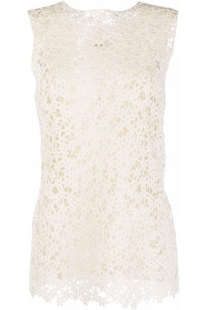 Jil Sander Crochet-panel knitted top