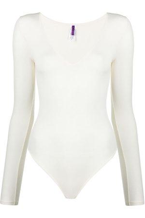 MAISON CLOSE Senhora Bodies interiores - Long-sleeved modal bodysuit