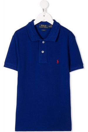 Ralph Lauren Menino Pólos - Logo-embroidered polo shirt