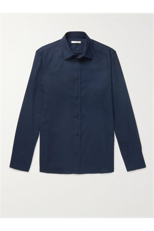 The Row Homem Casual - Robin Cotton and Cashmere-Blend Shirt