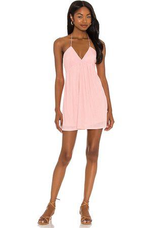 superdown Margo Halter Shift Dress in - Pink. Size L (also in M, S, XL, XS, XXS).