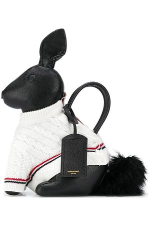 Thom Browne Homem Camisolas - Rabbit knitted-jumper tote bag
