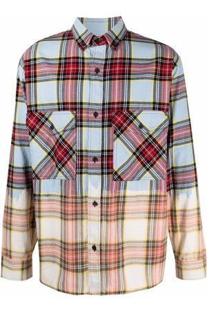 MARCELO BURLON Dyed-effect check shirt