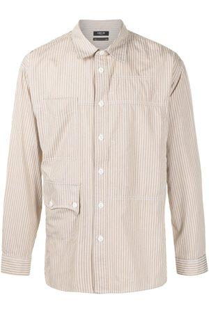 FIVE CM Striped two-pocket shirt