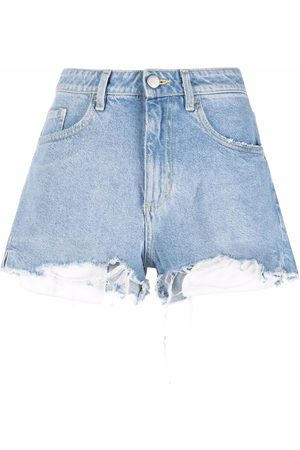 Icon Denim High-waisted distressed shorts