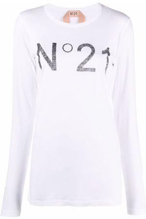 Nº21 Logo-print long-sleeve T-shirt