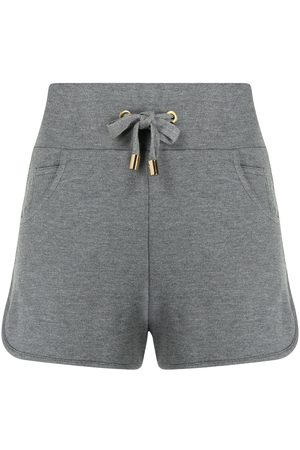 Balmain Embossed-logo track shorts