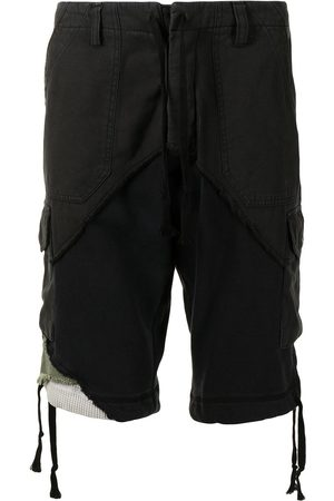 GREG LAUREN Distressed-finish cargo shorts