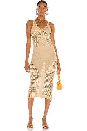 Tularosa Senhora Vestidos Compridos - Azalea Maxi Dress in - Neutral. Size L (also in XS, S, M).