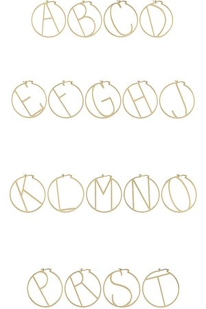 Retrofete Senhora Brincos - Hoop Alphabet Earring in - Metallic . Size A (also in J, K, M, S).