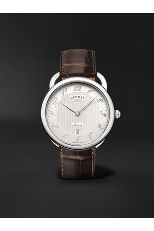 Hermès Homem Relógios - Arceau Automatic 40mm Steel and Alligator Watch, Ref. No. 055562WW00