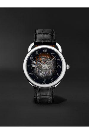 Hermès Homem Relógios - Arceau Squelette Automatic Skeleton 40mm Steel and Alligator Watch, Ref. No. 055537WW00