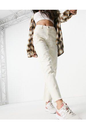 VILA Senhora Slim - Straight leg jean in ecru-White