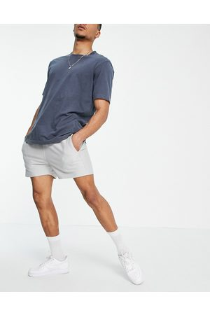 Another Influence Homem Calções - Towelling shorts co-ord in lavender grey