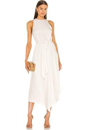 Vince Handkerchief Drape Halter Dress in - Cream. Size 0 (also in 4, 2, 6, 8).
