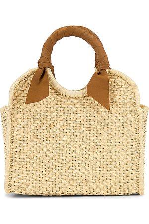 SENSI STUDIO X REVOLVE Midi Handbag in - Beige. Size all.