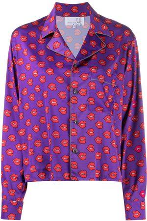 Natasha Zinko Fangs print pyjama top