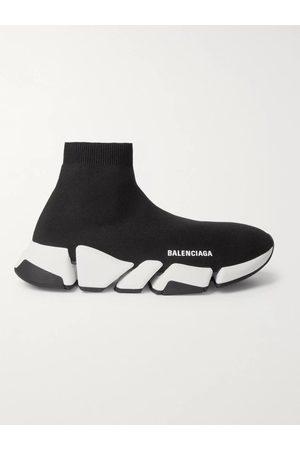 BALENCIAGA Homem Camisolas - Speed 2.0 Logo-Print Stretch-Knit Slip-On Sneakers
