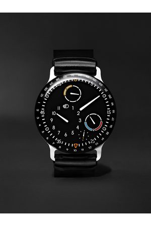 RESSENCE Homem Relógios - Type 3 Automatic 44mm Titanium and Leather Watch