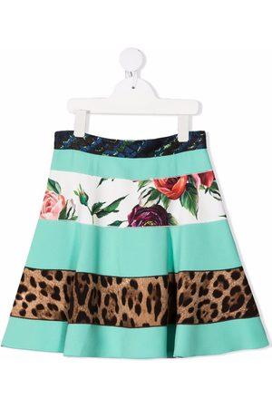 Dolce & Gabbana Menina Saias Estampadas - Mix-print skirt
