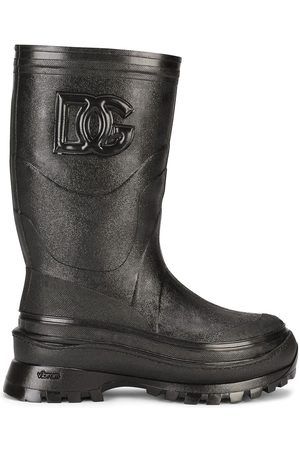 Dolce & Gabbana Homem Botas - Logo-embossed boots