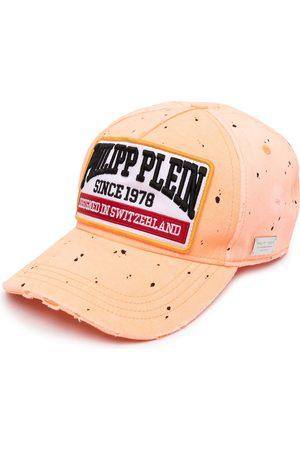 Philipp Plein Paint splatter logo baseball cap
