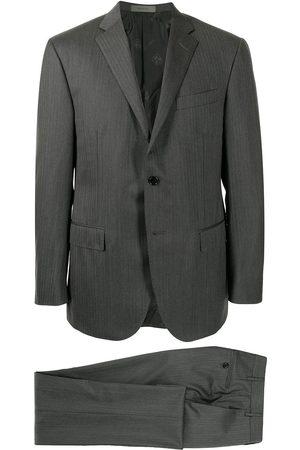 corneliani Academy herringbone single-breasted suit