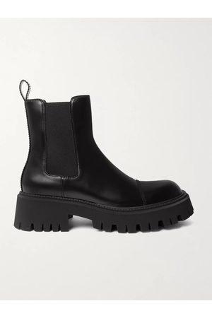 BALENCIAGA Homem Botas - Tractor Logo-Debossed Leather Chelsea Boots