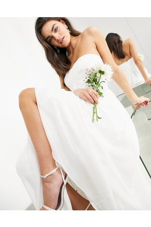 ASOS EDITION Lyra ruched bandeau wedding dress-White