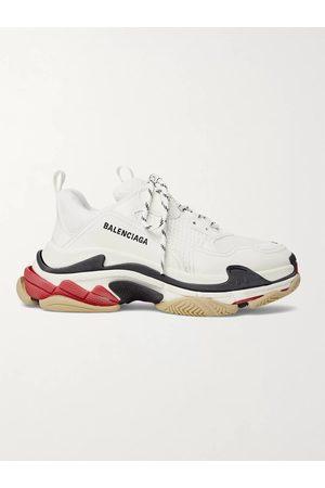 BALENCIAGA Homem Ténis - Triple S Mesh and Leather Sneakers