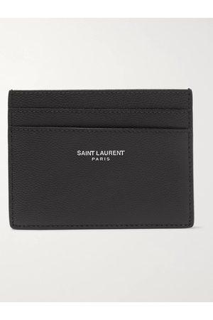 Saint Laurent Homem Bolsas & Carteiras - Logo-Embossed Pebble-Grain Leather Cardholder
