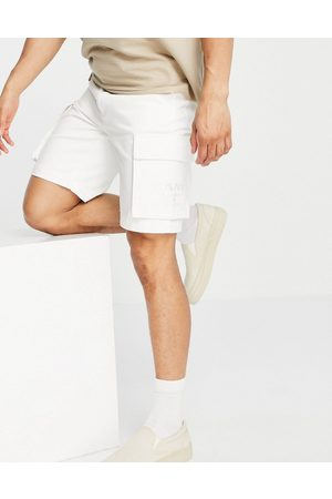 Karl Kani Homem Calções - OG cargo shorts in off white