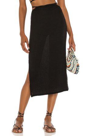 WeWoreWhat Senhora Saias Midi - Cutout Midi Skirt in - . Size L (also in S, M, XS).