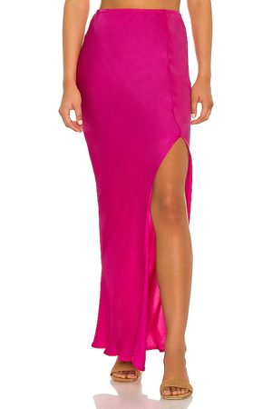 Indah Mist Solid Bias Maxi Skirt in - . Size L (also in XS, S, M).