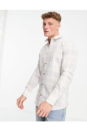 Only & Sons Homem Manga comprida - Long sleeve check shirt in lilac-Purple