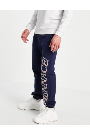 Mennace Joggers co-ord in navy with logo placement print