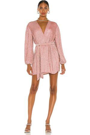 Retrofete Gabrielle Robe Dress in - Pink. Size L (also in XS, S, M, XL).
